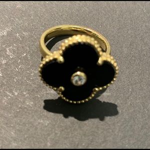 Gold Ring with real diamond. Size 6.